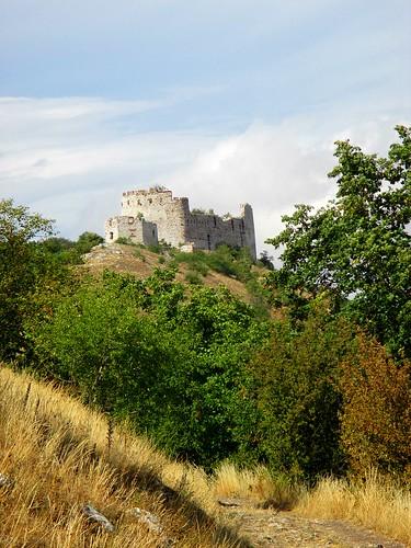 Pohled na zříceninu hradu Děvičky