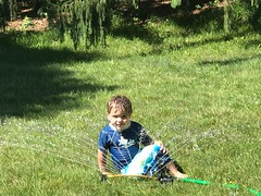 (Cheeseisboss) Tags: backyard sprinkler summer baby toddler benjamin
