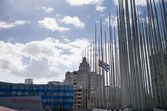 Cuba - Venceremos! (In.Deo) Tags: cuba havana malecón street flag halfstaff embassyoftheunitedstatesofamerica