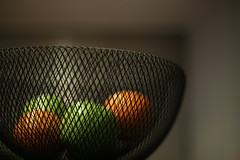 (Dhiren Adatia) Tags: color colour fruit fruitbowl orange apple grannysmith focus depth 50mm fun love newplace composition