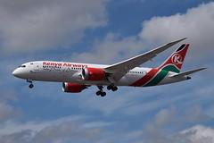 5Y-KZA Boeing 787 Kenya Airways (eigjb) Tags: london airport egll lhr june 2017 aircraft airplane jet airliner transport aviation aeroplane plane spotting heathrow 5ykza boeing 7878 787 kenya airways dreamliner b787 b788