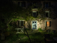 Who is at the door? (Mopple Labalaine) Tags: gurro piemonte italy it haunted house light painting night creepy torch old pentax longexposure lightpainting