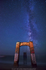 Milky Way at Abandoned Pier (Jaykhuang) Tags: milkyway davenport davenportpier abandonpier lineup alignment nightphotography jayhuangphotography