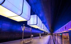 DSCF6487 (Thorsten Burkard) Tags: tube blue lines university hamburg ubahn hafencity