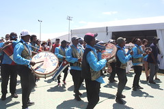 Conga Los Hoyos (2017) 12 - Parade (KM's Live Music shots) Tags: worldmusic cuba congasantiaguera congaloshoyos neworleansjazzheritagefestival fairgroundsracecourseneworleans