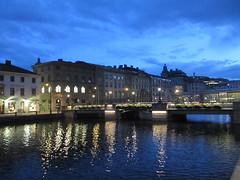 Stora Hamnkanalen and Tyska bron, summer twilight, Gothenburg, Sweden (Paul McClure DC) Tags: gothenburg göteborg sweden sverige july2015 scenery historic architecture