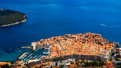 Dubrovnik from above (www.Royz.nl) Tags: dubrovnik cityscapes city center old town stari grad wall europe croatia