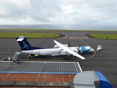 Bombardier Dash 8 at Horta 170616_018 (jimcnb) Tags: 2017 juni urlaub azoren azores açores faial horta airport castelobranco cstrg bombardier dash 8 sata
