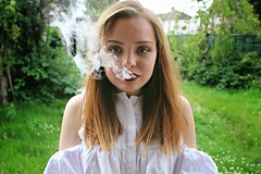 (victoriapss) Tags: canon 1200d girl bulgarian model beautidul beauty smoke green blond hair blue eyes red lipstick makeup portrait natural nature beautiful victoria stoyanova summer photoshoot photography amature