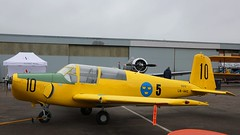 SAAB 91B (De Schelde) Safir Sk 50B 50010 at Kjeller Air Show 2017 (J.Comstedt) Tags: kjeller show 2017 oslo norway field airport aircraft aviation airplane saab 91 safir sk 50 50010 lnhhs swedsh force air johnny comstedt