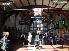 Sun and shadow in train concourse, Centralstation, Gothenburg, Sweden (Paul McClure DC) Tags: gothenburg göteborg sweden sverige july2015 architecture historic railroad railway