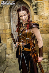 IMG_9472.jpg (Neil Keogh Photography) Tags: silver whitbygothweekend steampunk sword shoulderguards viking brown steampunkdress armguards red warrior goth armour blouse whitby top female woman whitbygothicweekendapril2017 facepaint black gothic trousers leather waistcoat white