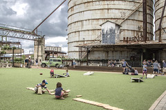 Playground at The Silos (Jodi Newell) Tags: canon chipjoannagaines fixerupper hgtv jodisjourneys jodinewellgmailcom kids magnolia playground texas thesilos travel waco