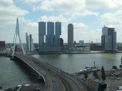 Rotterdam: River Skyline (harry_nl) Tags: netherlands nederland 2017 rotterdam maastorenflat view uitzicht skyline erasmusbrug derotterdam nieuwemaas