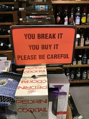 you break you buy (TheTruthAbout) Tags: you break buy fragile sign breakable glass store
