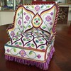 William Morris Chair - Purple Version (ann-marieanderson-mayes) Tags: beautifulstitches canvaswork needlepoint embroidery miniature