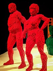 Everlasting by Lego artist Nathan Sawaya (mharrsch) Tags: everlasting couple male female people human lego sculpture art nathansawaya artofthebrick exhibit omsi oregonmuseumscienceandindustry oregon mharrsch