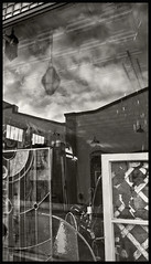 Shop Window #5 2017; The Storm in the Store (hamsiksa) Tags: windows reflections layers images storefronts shopwindows architecture commercial vernacular blackwhite cubism photographiccubism fragmentation stilllife