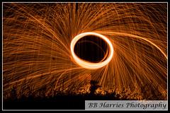 Flame (Ben Harries) Tags: flame spark flames sparks circle light lights exposure longexposure orange red fire shadow dark night kenfig bridgend southwales porthcawl