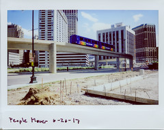 instaxwide039 (elsuperbob) Tags: detroit michigan downtowndetroit fujiflm instaxwide300 instax instantfilm peoplemover newtopographics