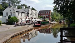 The Shroppie Fly (Eddie Crutchley) Tags: europe england cheshire audlem outdoor canal pub reflections narrowboats barge boats shropshireunioncanal simplysuperb greatphotographers