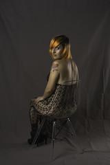 lace body (ErikaExpósito) Tags: lacebody orangehair orangegirl sexygirl tattoed tattoedgirl inkgirl septum studio greeneyes black