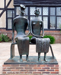 The King and Queen (Russtafa) Tags: henry moore the king queen rhs wisley sculpture statue statues bronze sculptor
