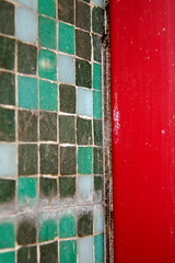 Abstract minimalist (jimj0will) Tags: abstract minimal minimalist colorful colourful squares tiles squaretiles green gold red blue