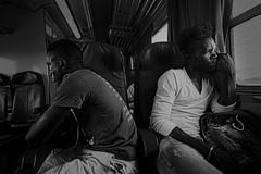 sguardo di speranza (Sascha Fiori) Tags: blackwhite biancoenero bianconero street ferrovia viaggi sardegna treno look sguardi
