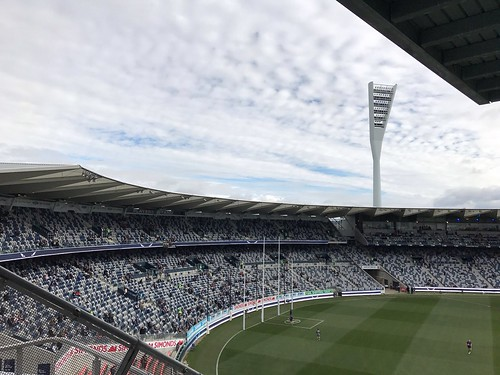 Clouds over Simonds Stadium