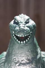 Godzilla '62 (Bandai 1983) (Donald Deveau) Tags: face godzilla bandai japanesetoy japanesemonster kaiju toho vinyl toys toyphotography vintagetoy kinggoji godzilla62