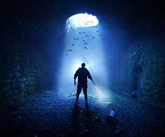 Discovering the Batcave (neil rushby photography) Tags: dark cave tunnel light lightpainting bats batcave batman silhouette discovery exploration explore potholing sunlight daylight illumination afterdark nocturnal