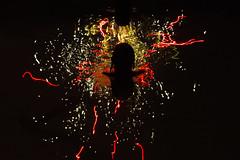 Swimming Pool Fireworks Girl (aaronrhawkins) Tags: fireworks swimmingpool swimming pool swim girl summer 4thofjuly independenceday lights water reflection silhouette head hair longexposure surface colors streak shoulders provo utah aaronhawkins holiday night dark celebration lucyparker