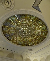 Chicago, Art Institute, Fullerton Hall, Tiffany Stained Glass Dome, 1898 (Mary Warren (8.7+ Million Views)) Tags: chicago artinstitute fullertonhall louscomforttiffany stainedglass dome