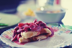 sweet  afternoon :-))) (Eggii) Tags: pancakes cheese strawberries sourcream project 365 afternon relax time light sweet 1000000calorie