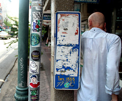 stickers in bangkok (wojofoto) Tags: bangkok thailand streetart stickers sticker stickerart wojo wojofoto wolfgangjosten