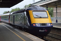 43155 (+195), Exeter St. David's (JH Stokes) Tags: 43155 exeterstdavids firstgreatwestern fgw hst highspeedtrain class43 powercar diesellocomotives trains trainspotting tracks t transport railways photography
