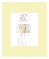 Limits 2 (MitikaFe) Tags: visualart body draw colors pastel girls yellow pink contemporaryart artistic conceptual limits
