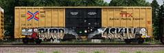 Burd/4Skin (quiet-silence) Tags: graffiti graff freight fr8 train railroad railcar art burd 4skin ais boxcar ttx tbox tbox663335