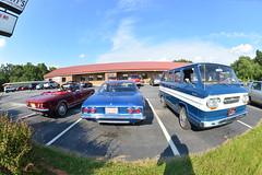 Classic Cars Corvair Club Hoyt's Restaurant Lexington, NC 20170710_4245 (Shane's Flying Disc Show) Tags: classiccars corvairclub davidson nc lexinton unsafeatanyspeed daredevils