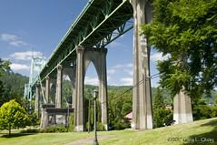 St Johns Bridge, July 2017 (Gary L. Quay) Tags: saint johns bridge portland oregon 2017 gary quay