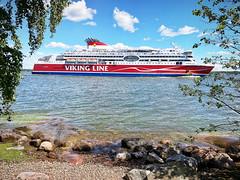 (Sameli) Tags: summer sea shore cruise ship viking line mariella blue sky island lonna helsinki suomi finland