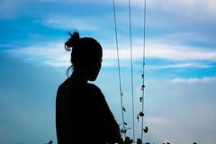 187/365 (hailey_anne) Tags: 365 365days selfportrait self sky silhouette