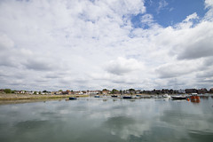 Emsworth in the sky and sea (skipnclick) Tags: emsworth chichester harbour sky sea wide angle reflections town vast boats