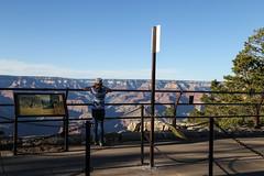 One Last Look (KC Mike D.) Tags: rim south grandcanyon arizona southrim canyon grand girl overlook railing park national wonder views geology history path look binoculars elevation scenic last camera picture memories photograph