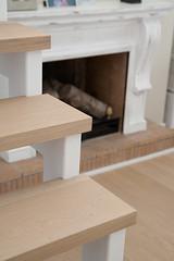 escalones con madera