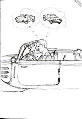 musée Lohéac by Jacques - 28 juillet 2017 (croquisdumercredi) Tags: croquis sketch musée loheac voiture car