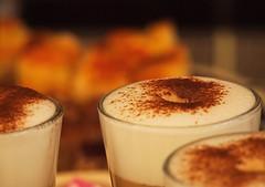 Lazy Sunday (Karol Kuchcinski) Tags: coffee cakes sunday sunset milk cappuccino chocolate cake glass