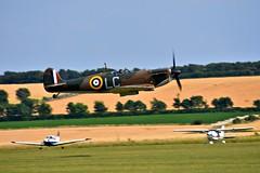 Flying Legends '17. (Steve.T.) Tags: flyinglegends duxford cambridgeshire spitfire mk1spitfire fighter aircraft iconicaircraft flyinglegends17 nikon d7200 sigma70300 raf battleofbritain spitfirer9612 lowpass iwmduxford