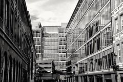 Lines, Diagonals and Reflection (Manoo Mistry) Tags: nikon nikond5500 tamron18270mmzoomlens tamron monochrome blackandwhite architecture building modernarchitecture